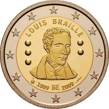 Бельгия - 200 лет Луи Брайля