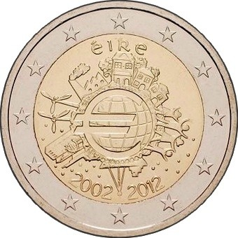 Ирландия - 10 лет наличному евро