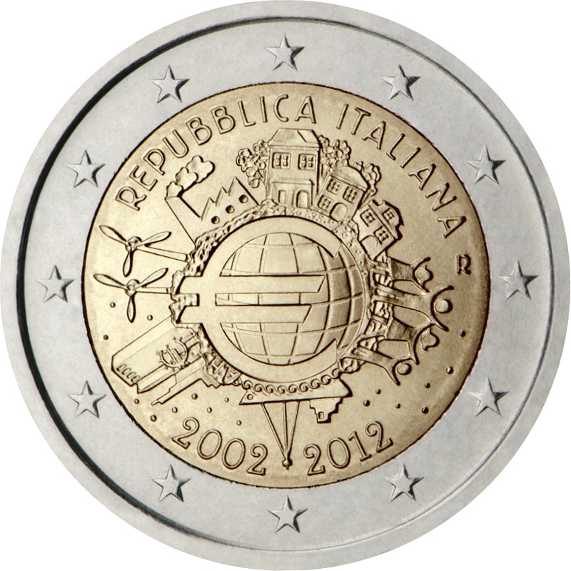 Италия - 10 лет наличному евро