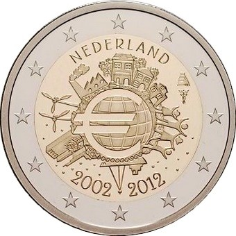 Нидерланды - 10 лет наличному евро