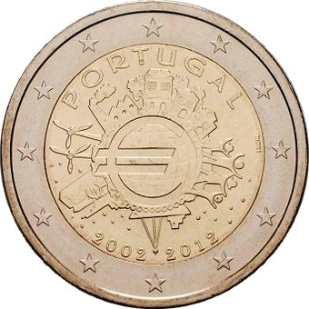 Португалия - 10 лет наличному евро