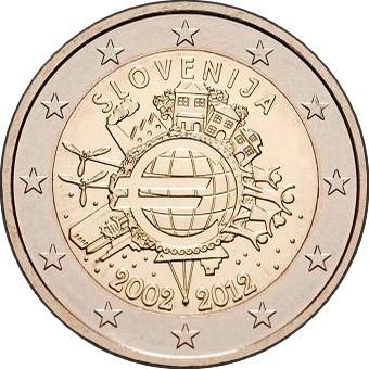 Словения - 10 лет наличному евро