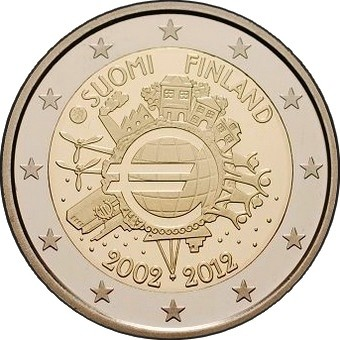 Финляндия - 10 лет наличному евро