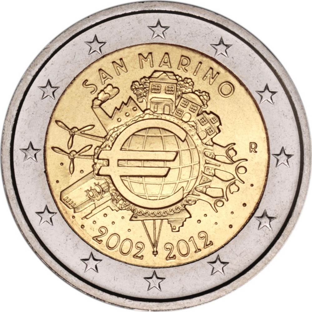 Сан Марино - 10 лет наличному евро