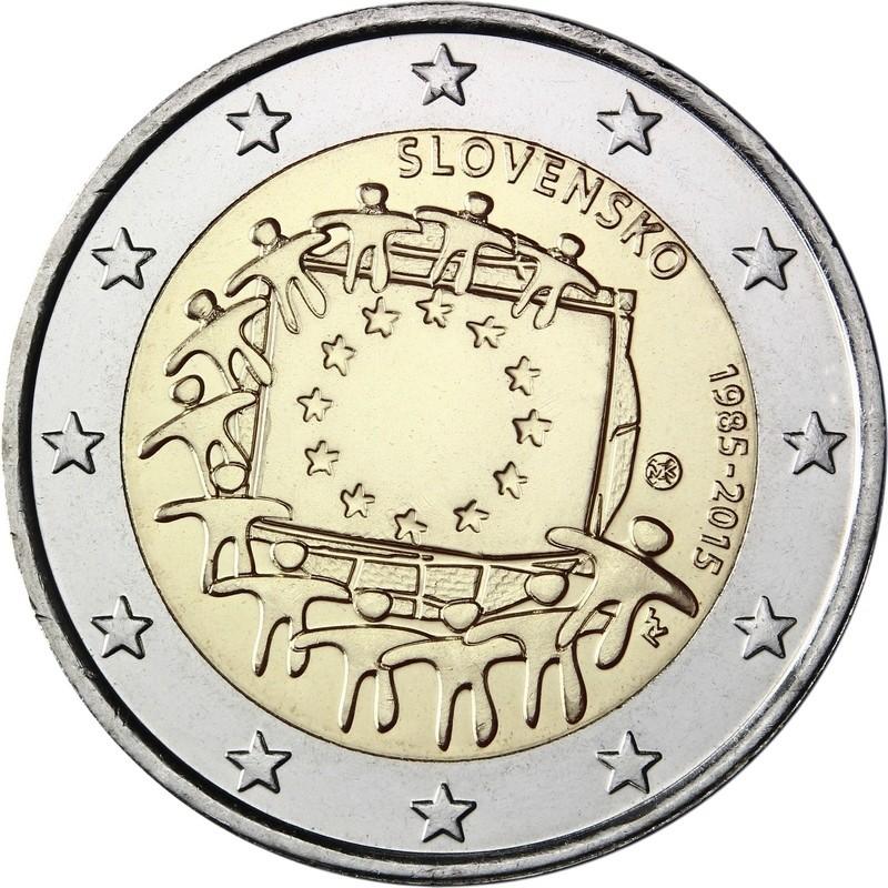 Словакия - 30 лет флагу ЕС