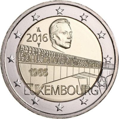 Люксембург - 50-летие моста Великой герцогини Шарлотты