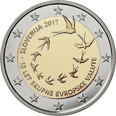Словения - 10-я годовщина введения евро в Словении