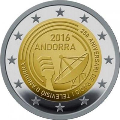 Андорра - 25-летие радио- и телевещания в Андорре