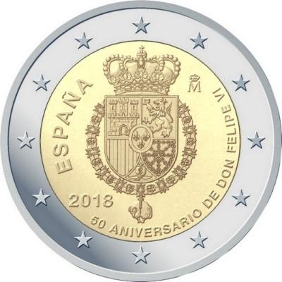 Испания - 50 лет со дня рождения короля Филиппа VI