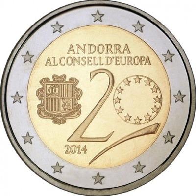 Андорра - 20-летие вступления Андорры в Совет Европы
