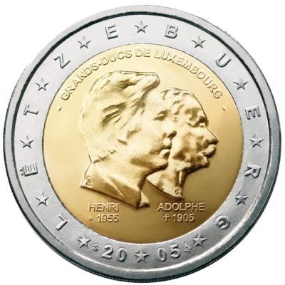 Люксембург - Три годовщины: 50-лет правящему монарху Анри Нассау; 5-лет правления правящего монарха Анри Нассау; 100-летие со смерти герцога Люксембургского Адольфа