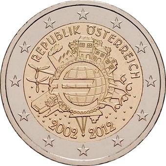 Австрия - 10 лет наличному евро