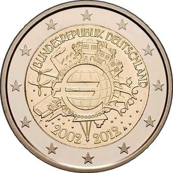 Германия - 10 лет наличному евро
