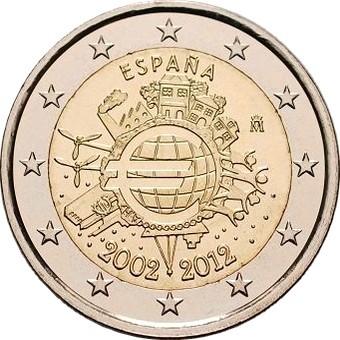 Испания - 10 лет наличному евро