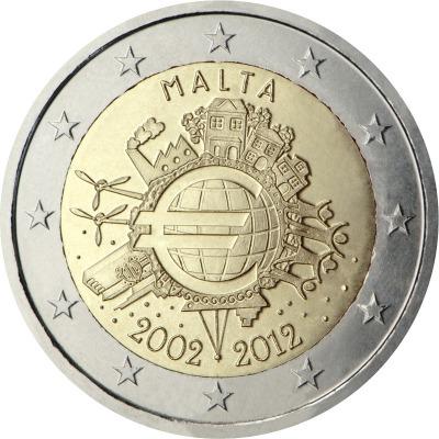 Мальта - 10 лет наличному евро