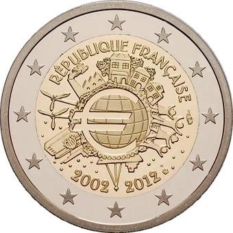 Франция - 10 лет наличному евро