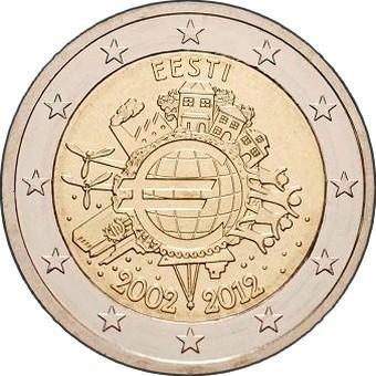 Эстония - 10 лет наличному евро