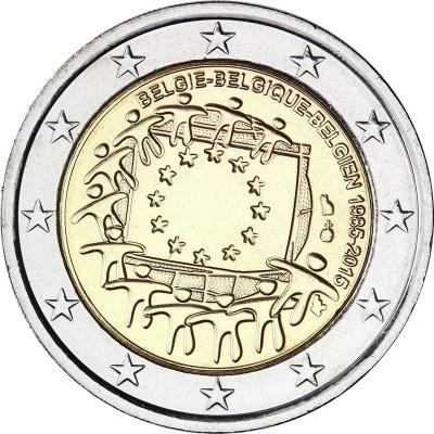 Бельгия - 30 лет флагу ЕС