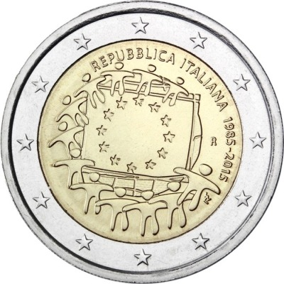 Италия - 30 лет флагу ЕС