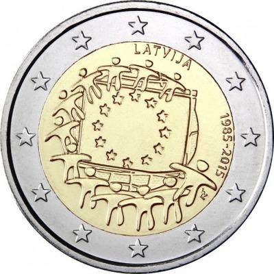 Латвия - 30 лет флагу ЕС