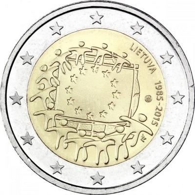 Литва - 30 лет флагу ЕС