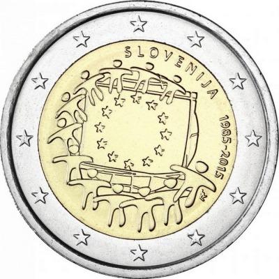 Словения - 30 лет флагу ЕС