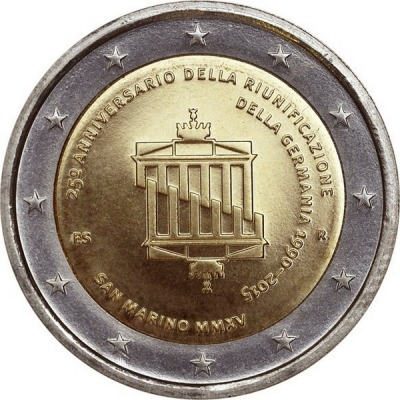 Сан Марино - 25-летие объединения Германии